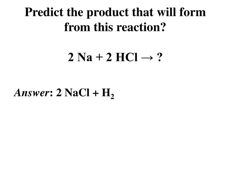 Predict the product that will form from this reaction?