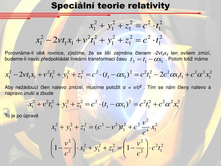 Speciální teorie relativity