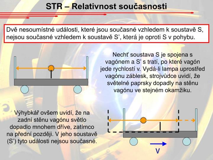 STR – Relativnost současnosti