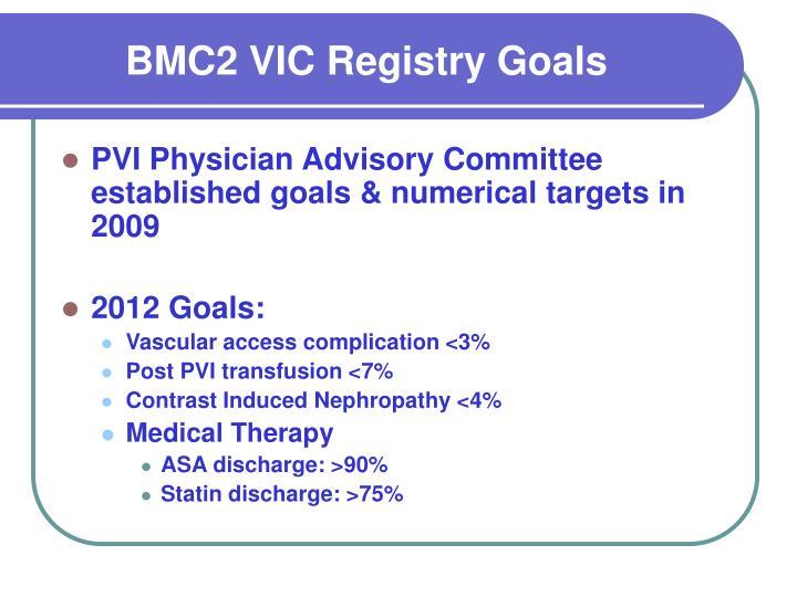 BMC2 VIC Registry Goals
