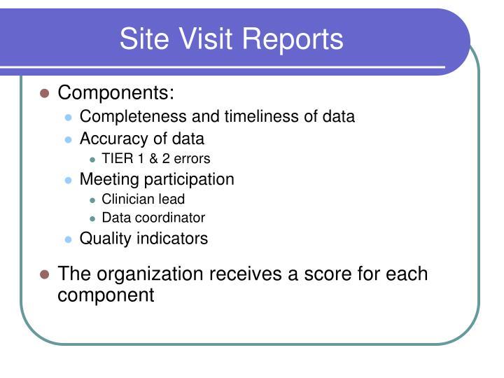 Site Visit Reports