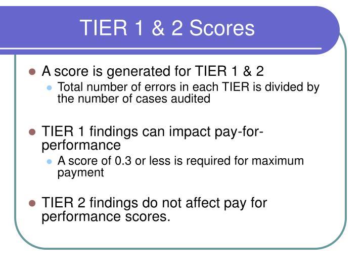 TIER 1 & 2 Scores