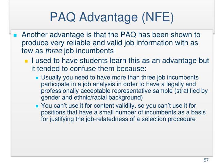 PAQ Advantage (NFE)