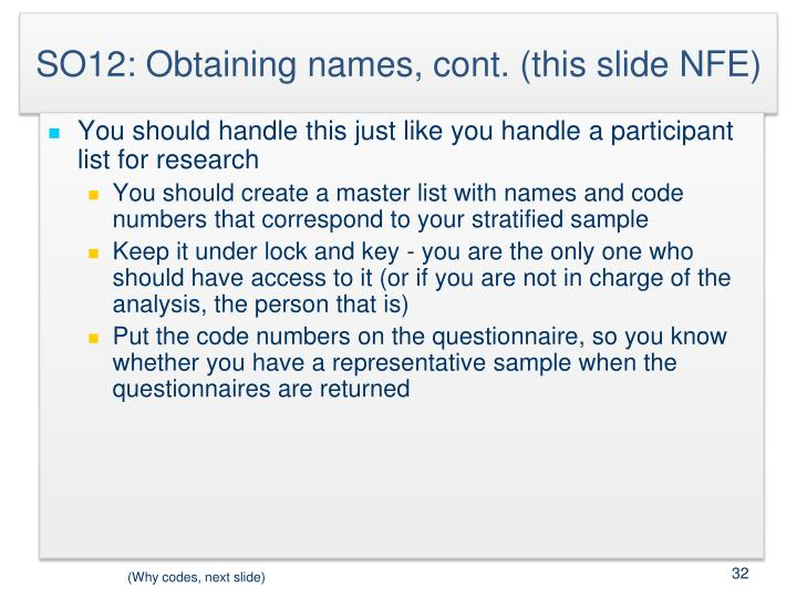 SO12: Obtaining names, cont. (this slide NFE)