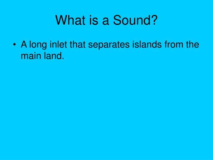 What is a Sound?