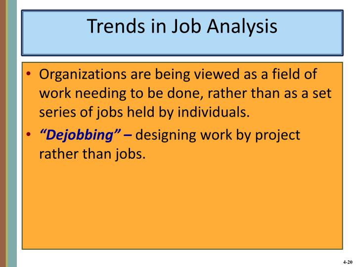 Trends in Job Analysis