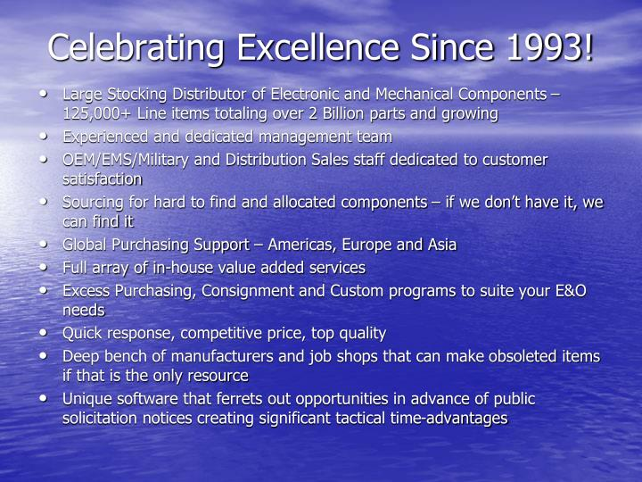 Celebrating Excellence Since 1993!