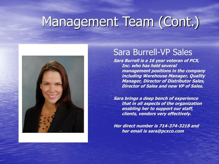 Sara Burrell-VP Sales