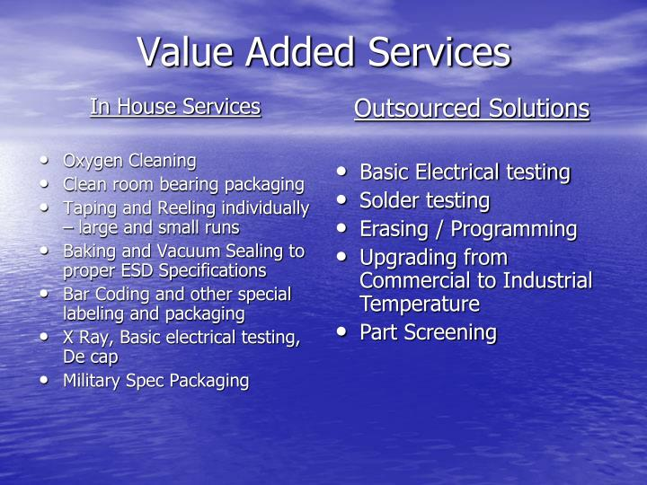 In House Services