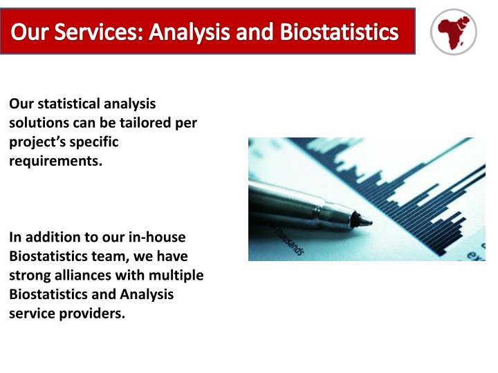 Our Services: Analysis and Biostatistics