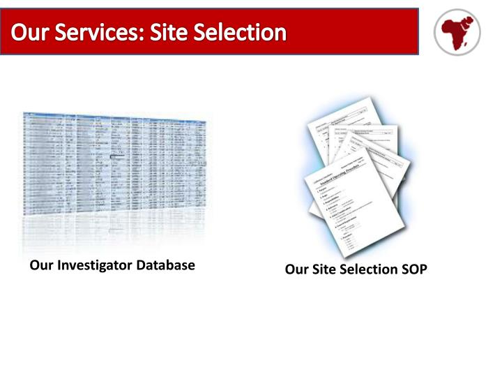 Our Services: Site Selection