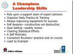 a champions leadership skills