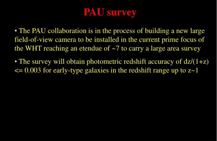 PAU survey