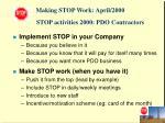 stop activities 2000 pdo contractors