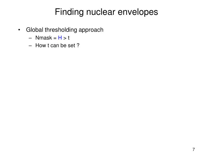 Finding nuclear envelopes