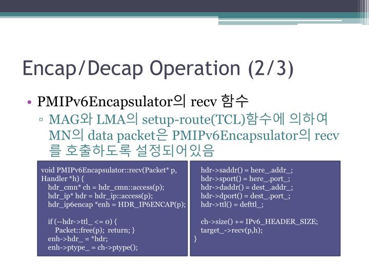 Encap/Decap Operation (2/3)