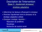 description de l intervention tape 3 ajustement stresseur strat gie adaptative