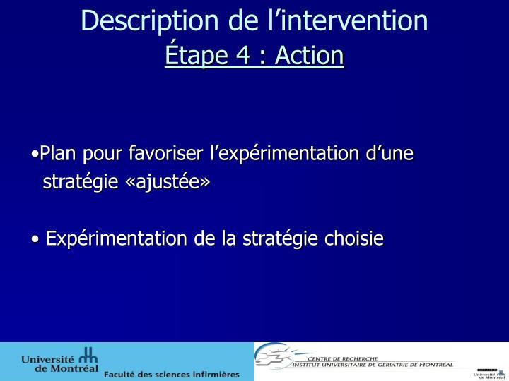 Description de l'intervention