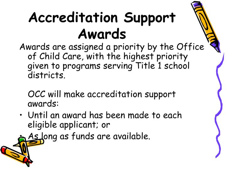 Accreditation Support Awards