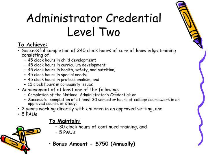 Administrator Credential