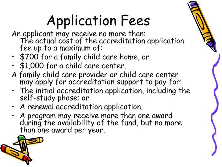 Application Fees