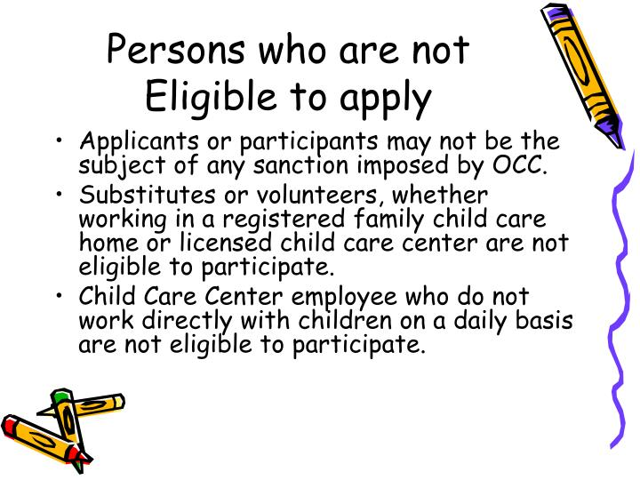 Persons who are not Eligible to apply