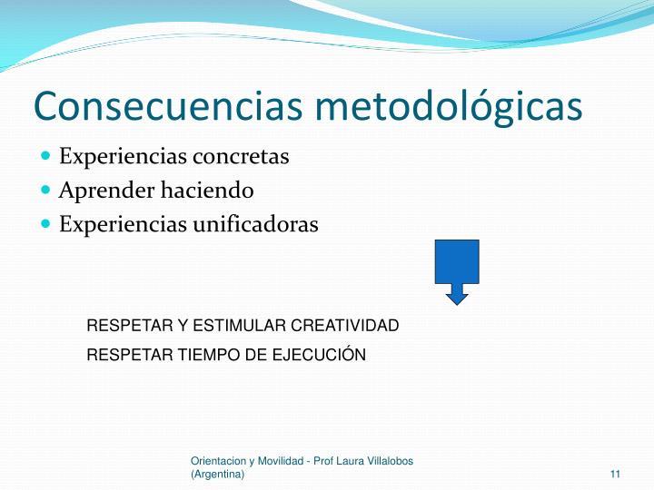 Consecuencias metodológicas