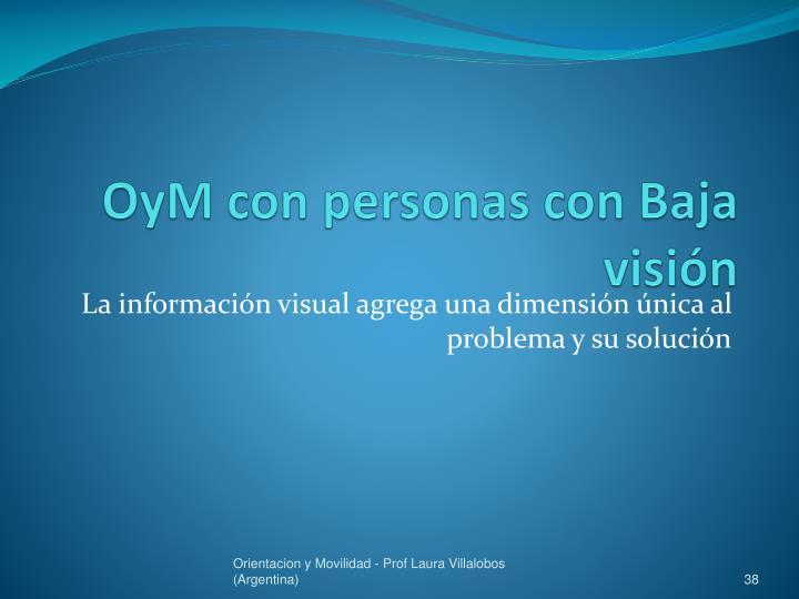 OyM con personas con Baja visión