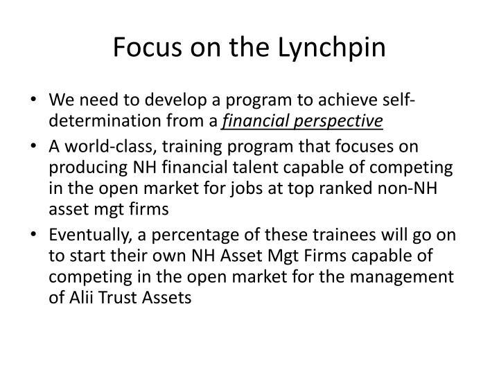Focus on the Lynchpin