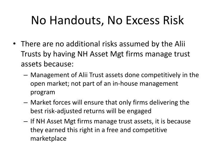No Handouts, No Excess Risk