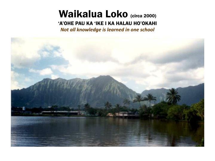 Waikalua Loko
