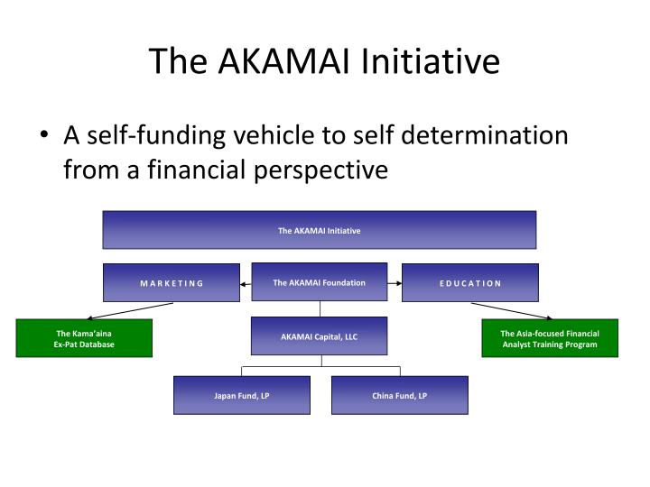 The AKAMAI Initiative