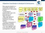objective coordinator s analysis conclusions