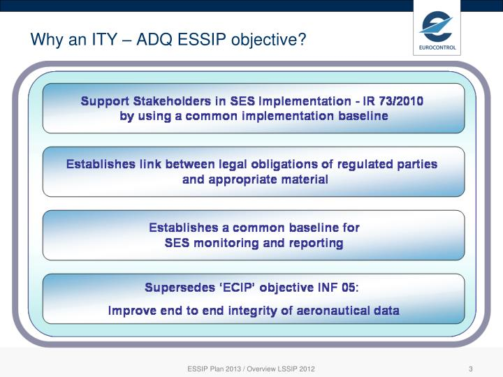 Why an ity adq essip objective