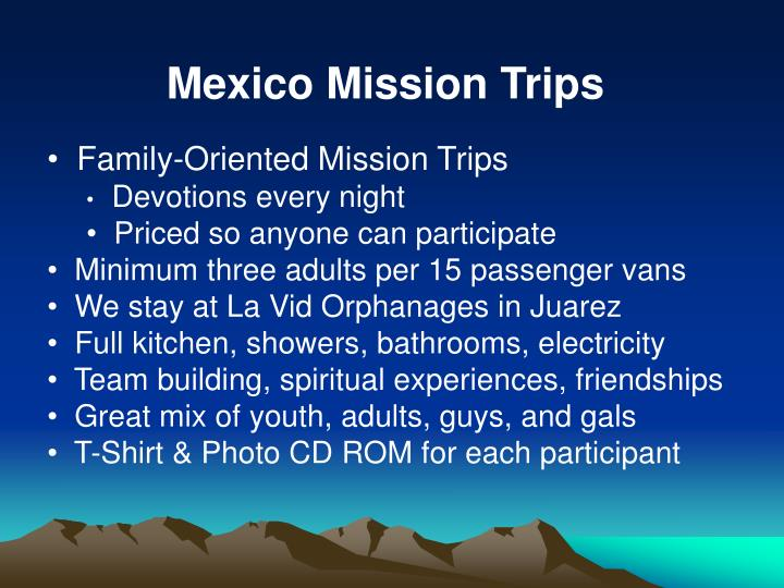 Mexico Mission Trips