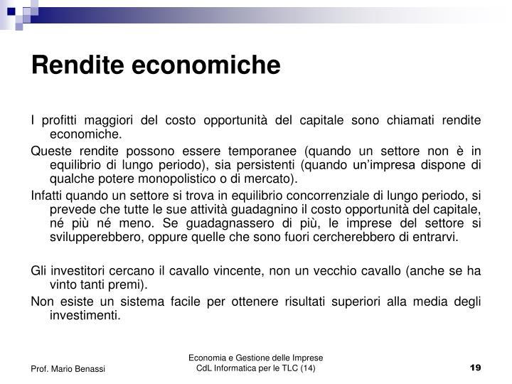 Rendite economiche
