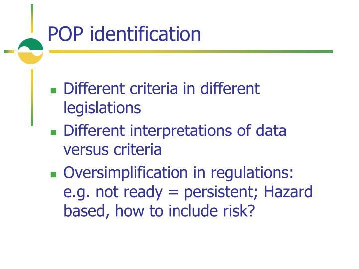 POP identification