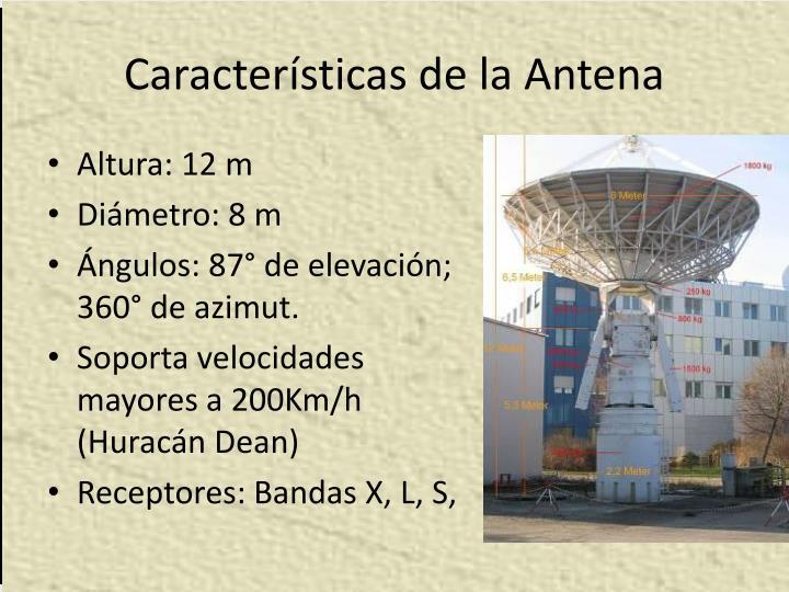 Características de la Antena