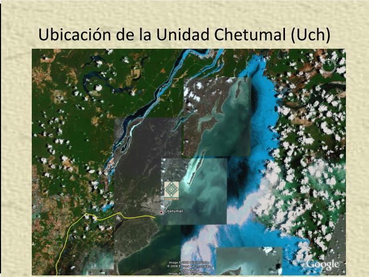 Ubicación de la Unidad Chetumal (Uch)