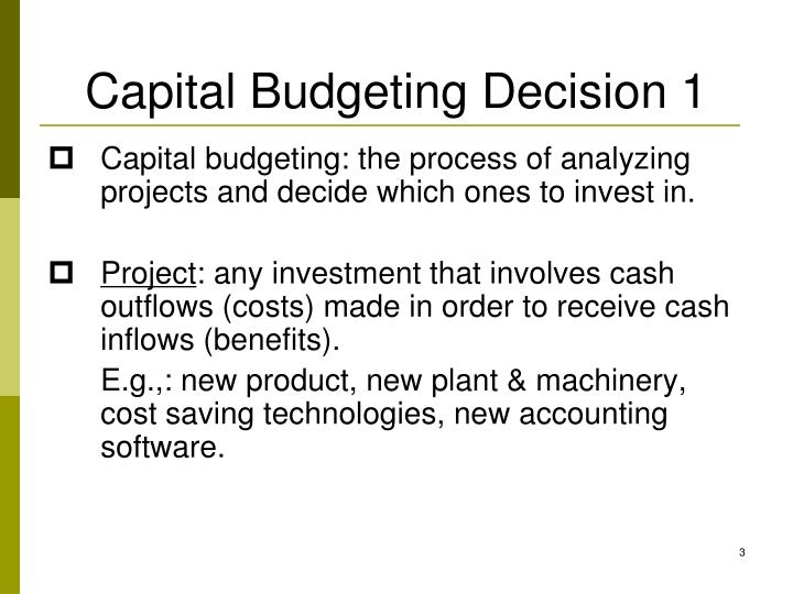 Capital budgeting decision 1