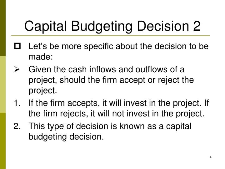 Capital Budgeting Decision 2