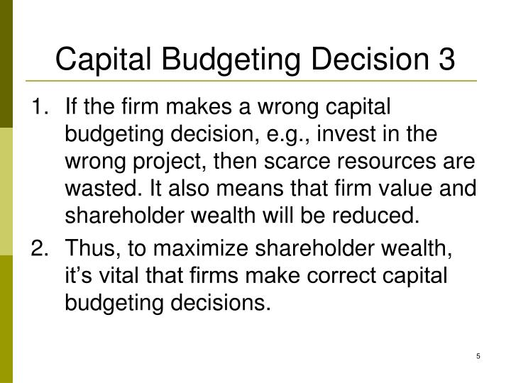 Capital Budgeting Decision 3