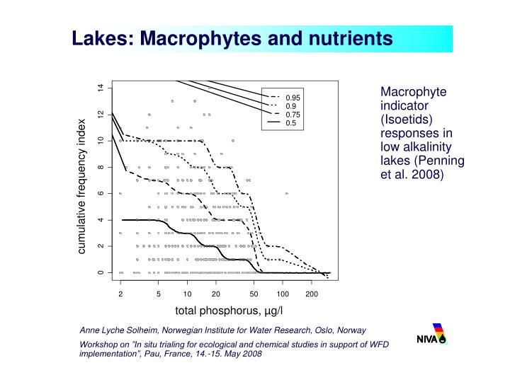 Lakes: Macrophytes and nutrients