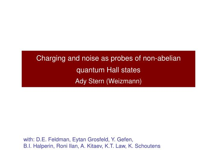 Charging and noise as probes of non-abelian quantum Hall states