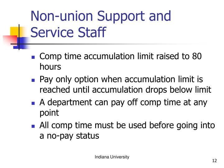 Non-union Support and Service Staff