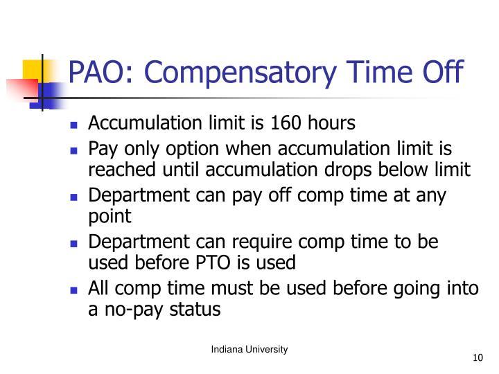 PAO: Compensatory Time Off
