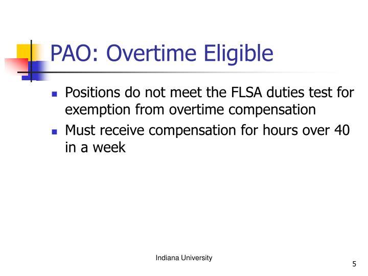 PAO: Overtime Eligible