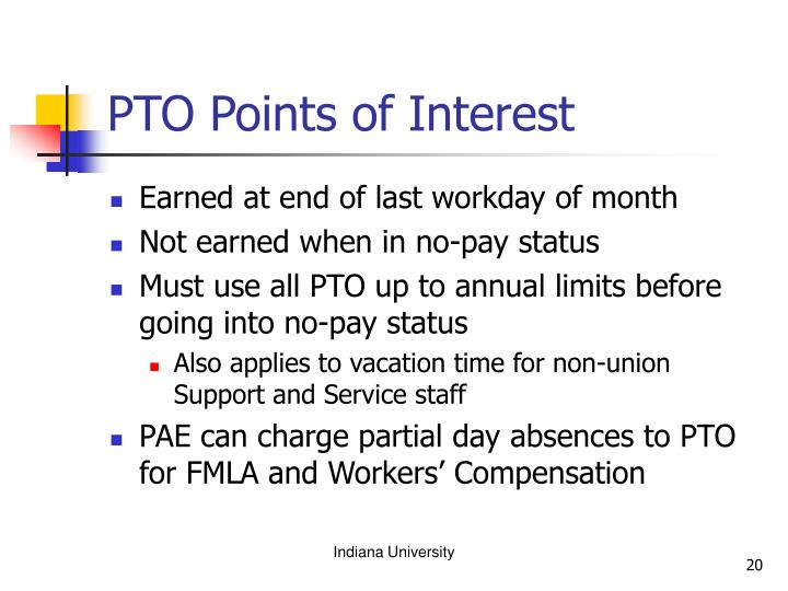 PTO Points of Interest