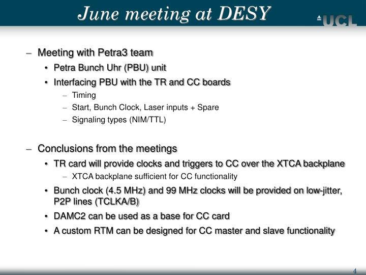 June meeting at DESY