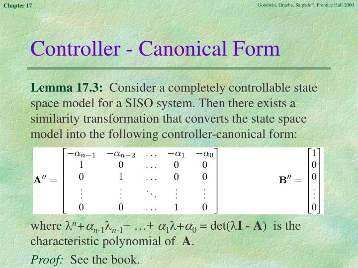 Controller - Canonical Form